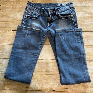 Jean 28 Boot Faded Distressed Destroyed W30 R7 L31